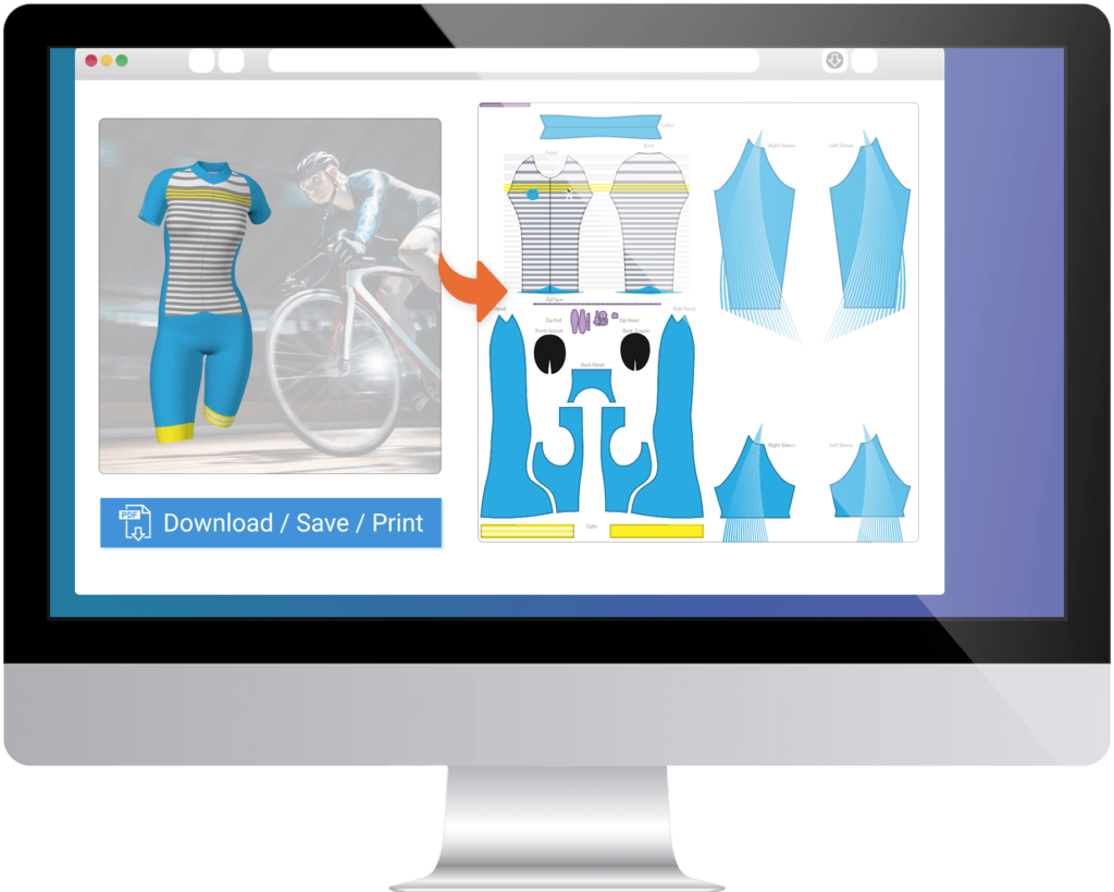 Cycling Suit Print